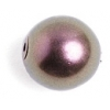 Glass 10mm Round Beads Metallic Bronze - Strung